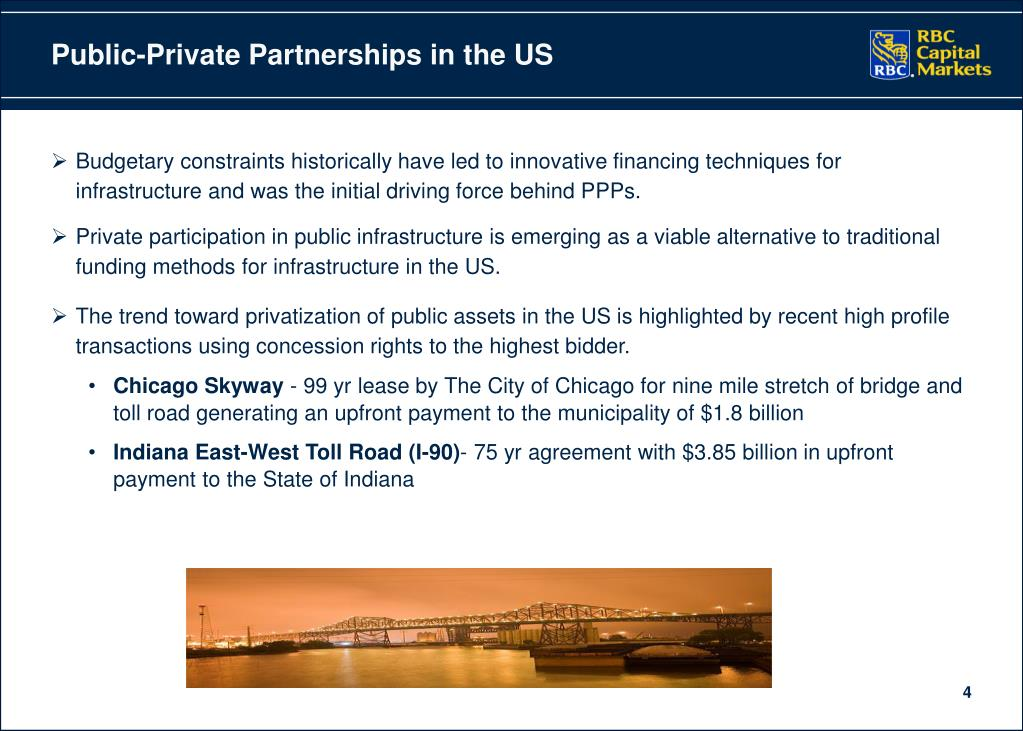 Public-Private Partnerships in the US