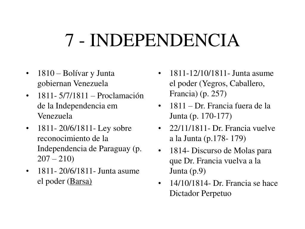 7 - INDEPENDENCIA