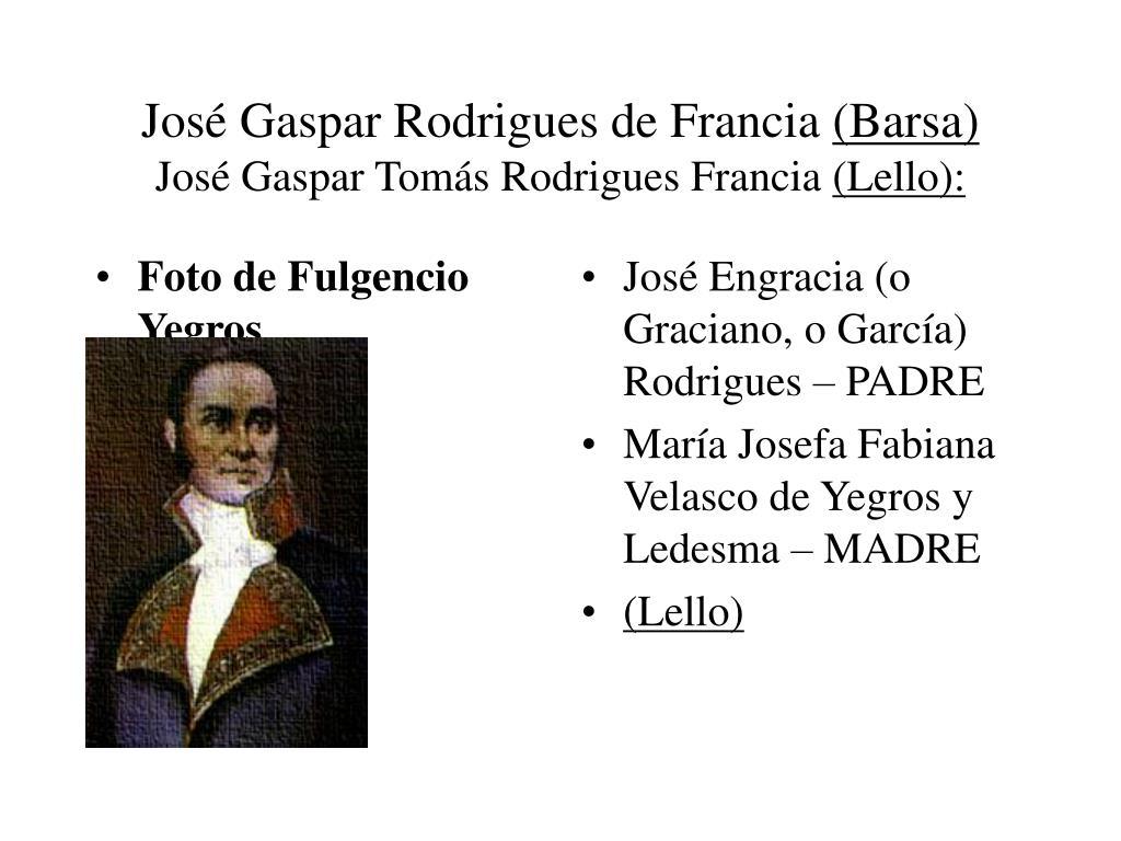 José Gaspar Rodrigues de Francia