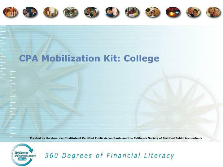 Cpa mobilization kit college