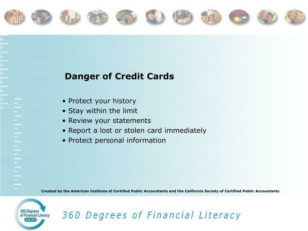 Danger of Credit Cards