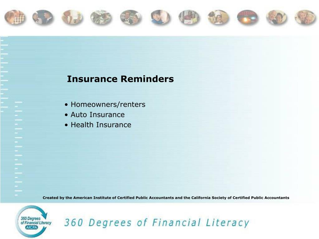 Insurance Reminders