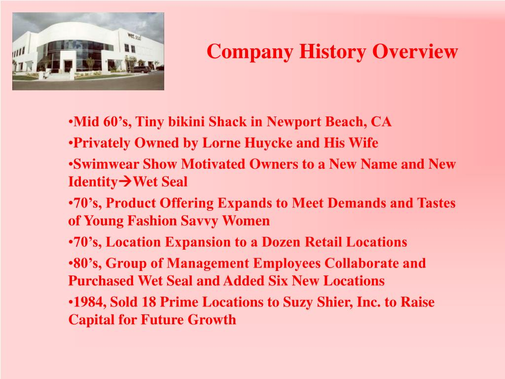 Company History Overview
