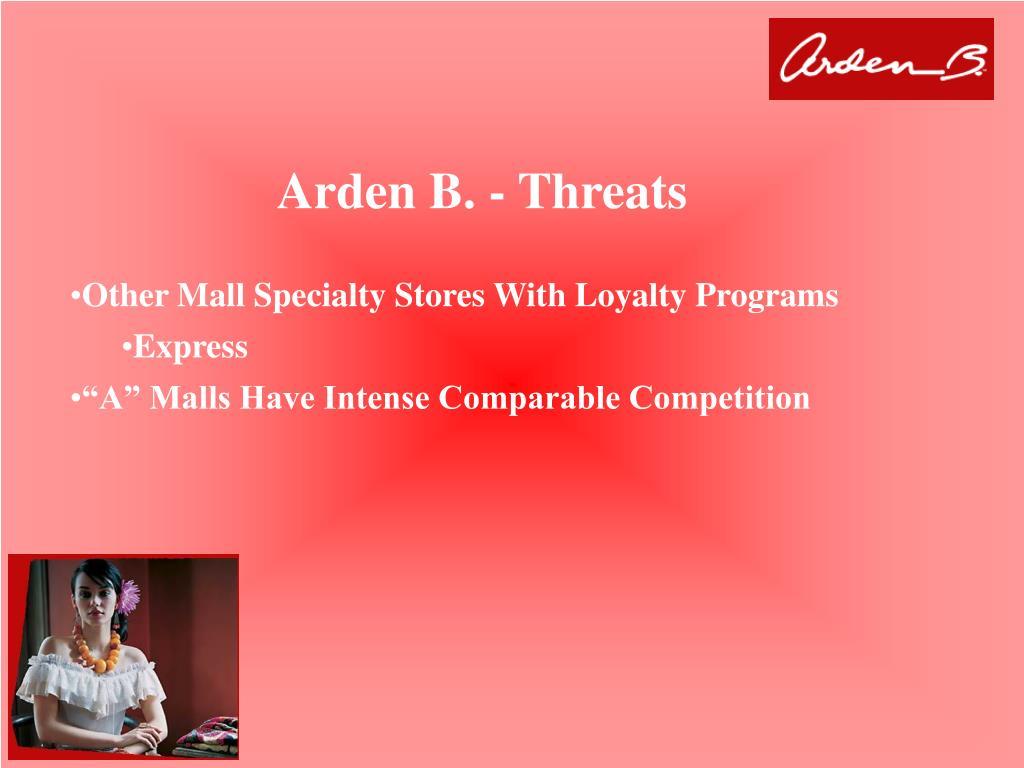 Arden B. - Threats
