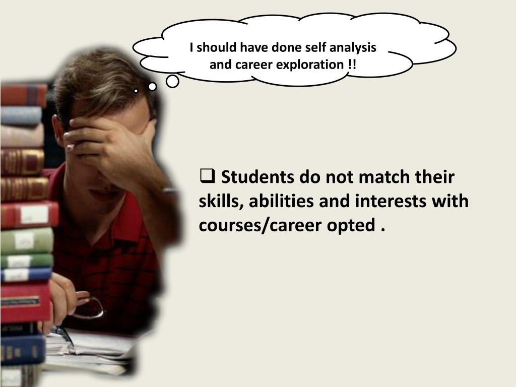 I should have done self analysis and career exploration !!