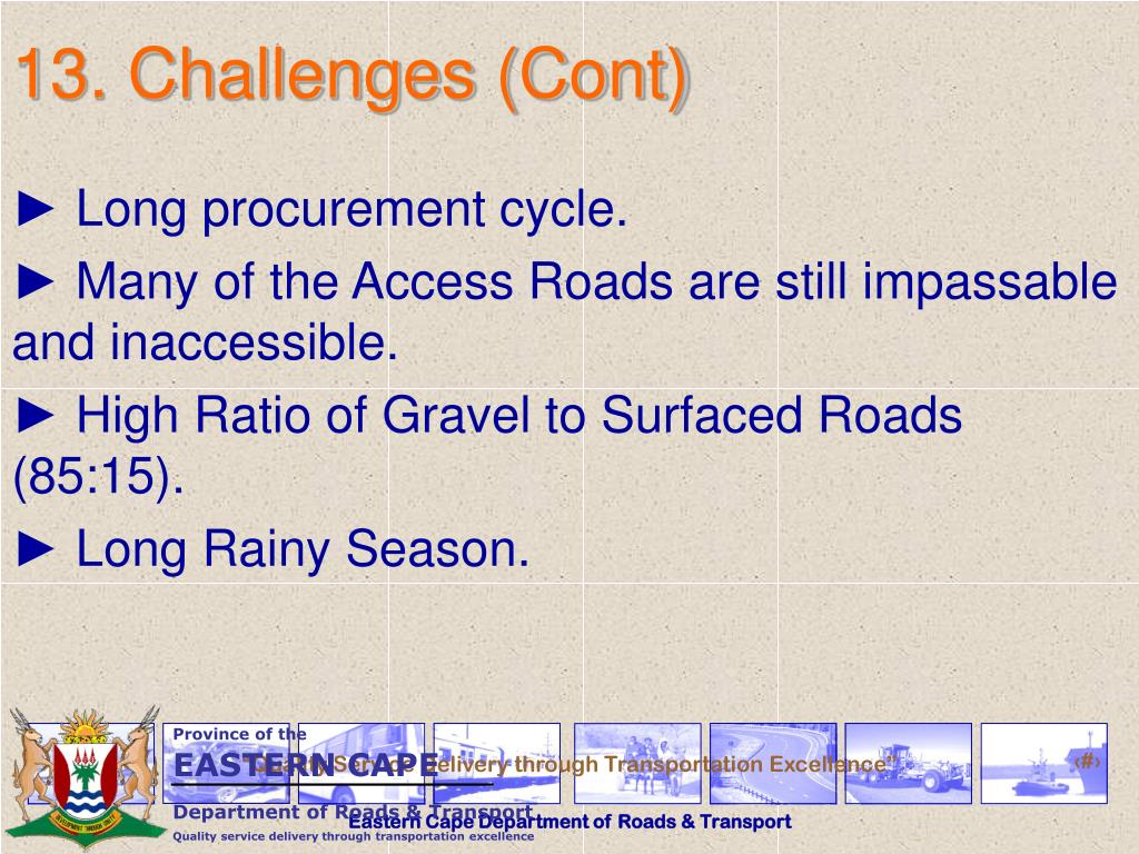13. Challenges (Cont)