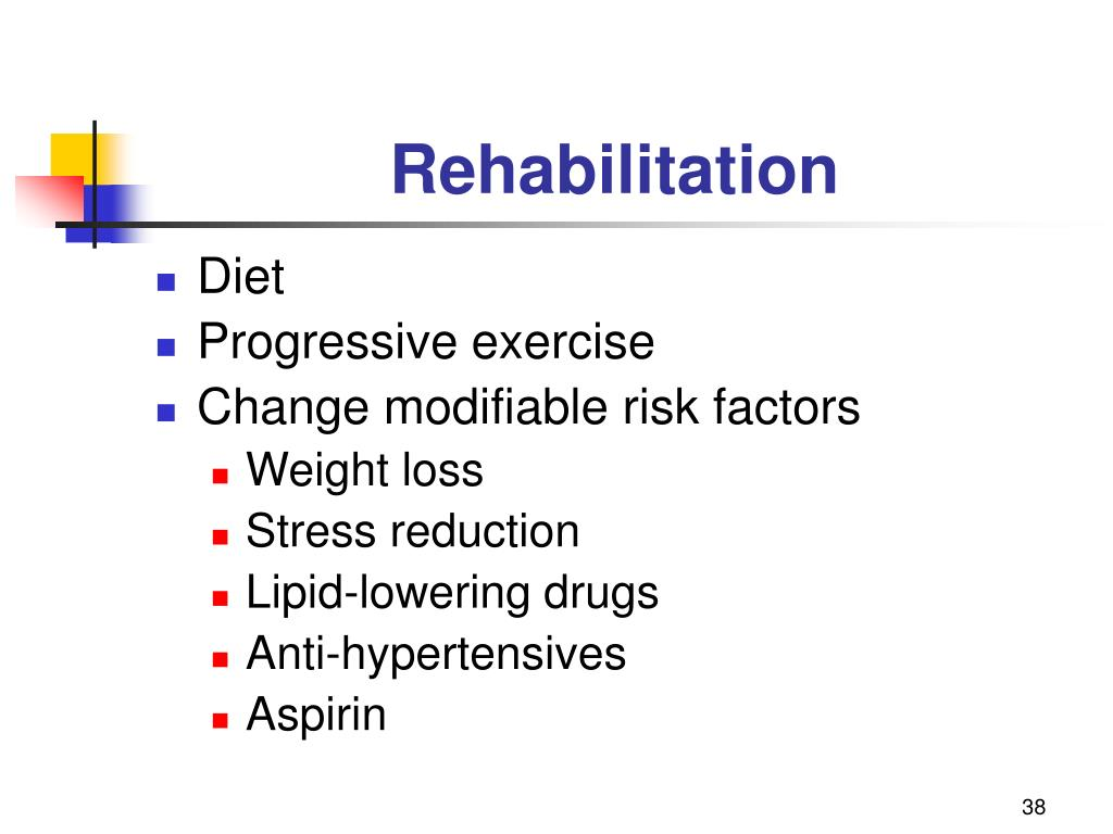 examining cardiac rehabilitation post myocardial infarction lifestyle changes Patients with depression are less likely to  few months after a myocardial infarction  and certain lifestyle changes in the post-mi period 11.