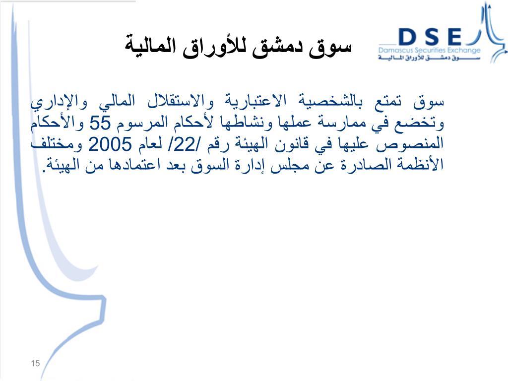 سوق دمشق للأوراق المالية