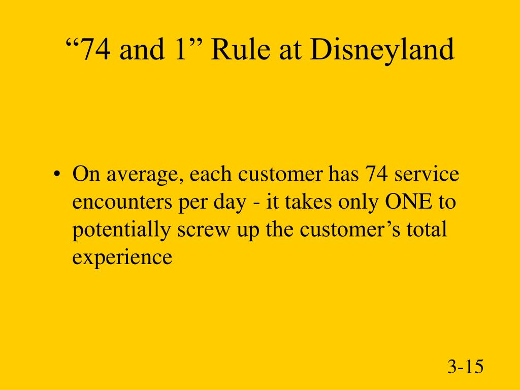 """74 and 1"" Rule at Disneyland"