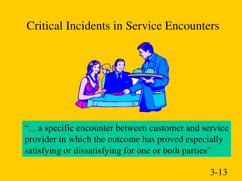 Critical Incidents in Service Encounters