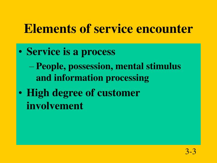 Elements of service encounter