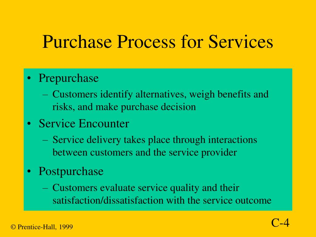 Purchase Process for Services