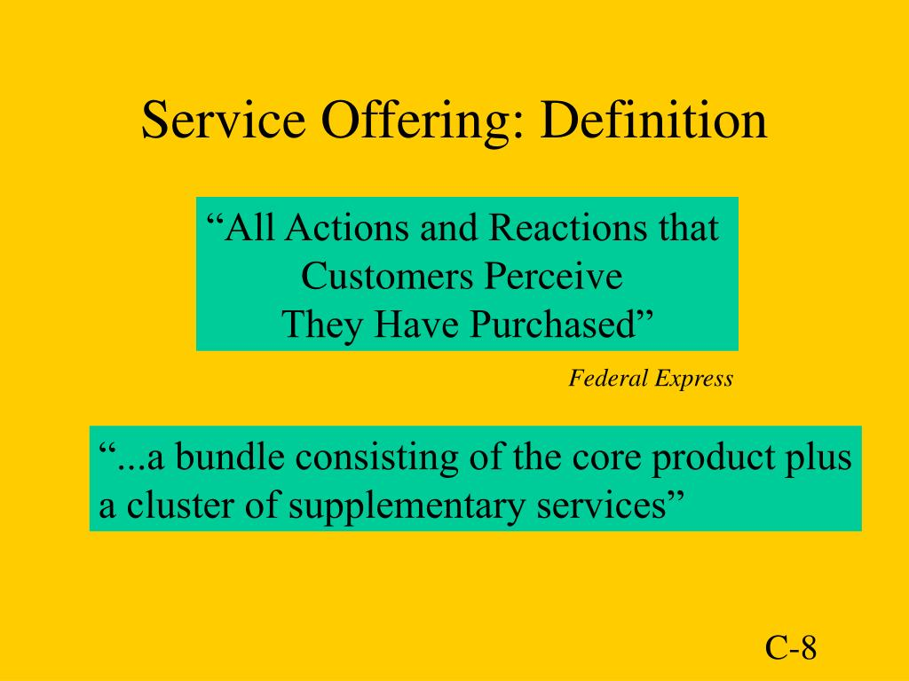 Service Offering: Definition
