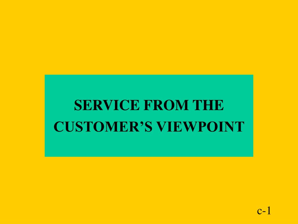 SERVICE FROM THE