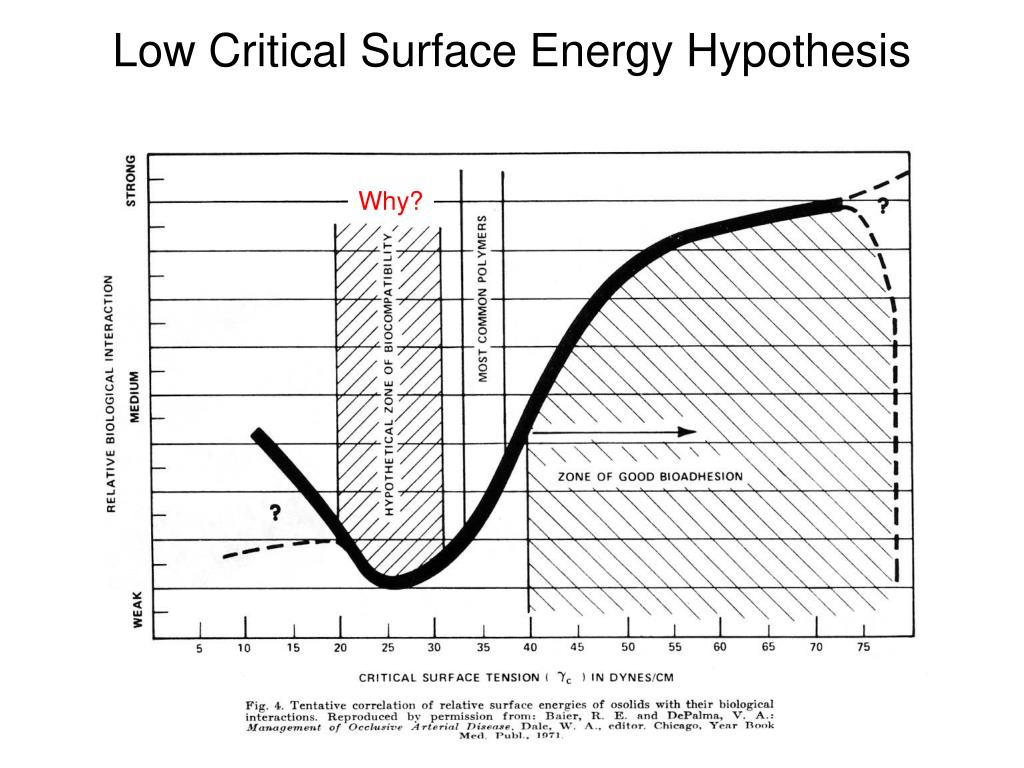 Low Critical Surface Energy Hypothesis