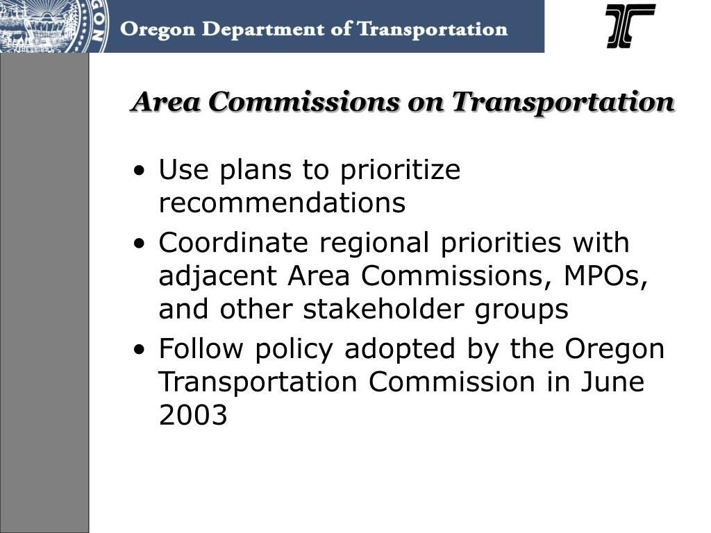 Area Commissions on Transportation