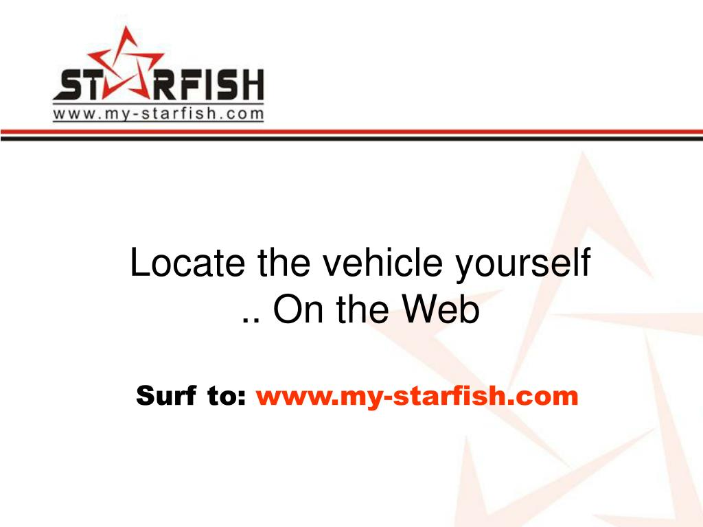 Locate the vehicle yourself .. On the Web