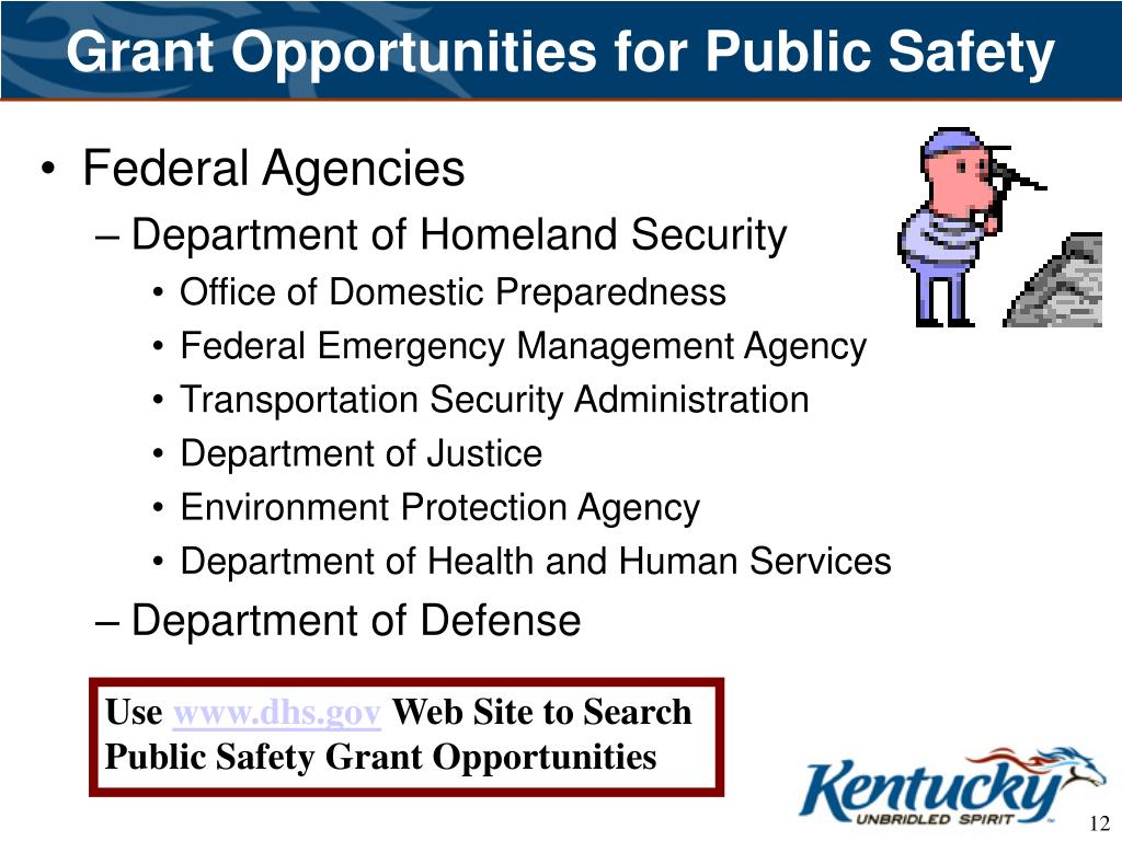Grant Opportunities for Public Safety