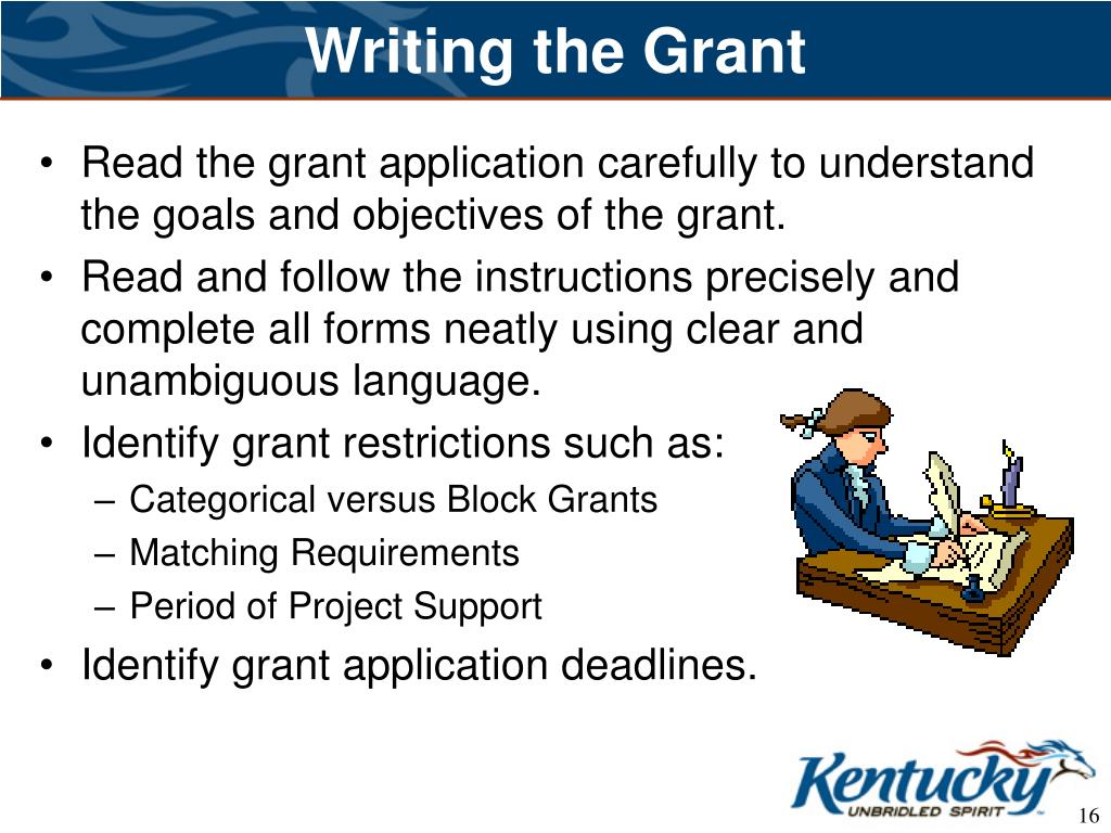 Writing the Grant