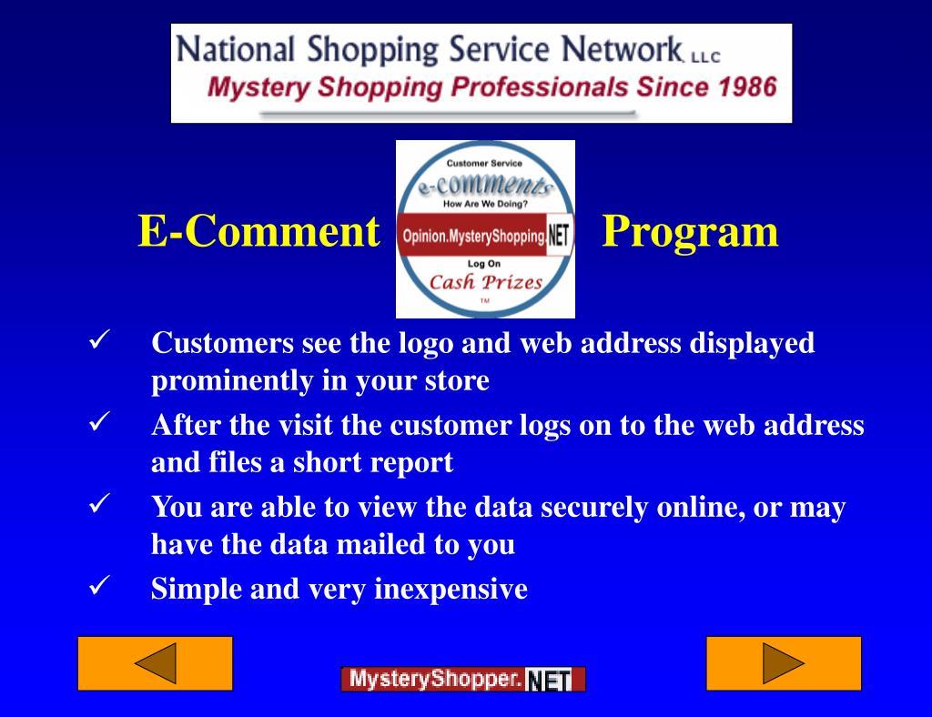 E-Comment                   Program