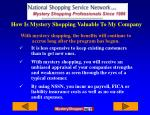 how is mystery shopping valuable to my company