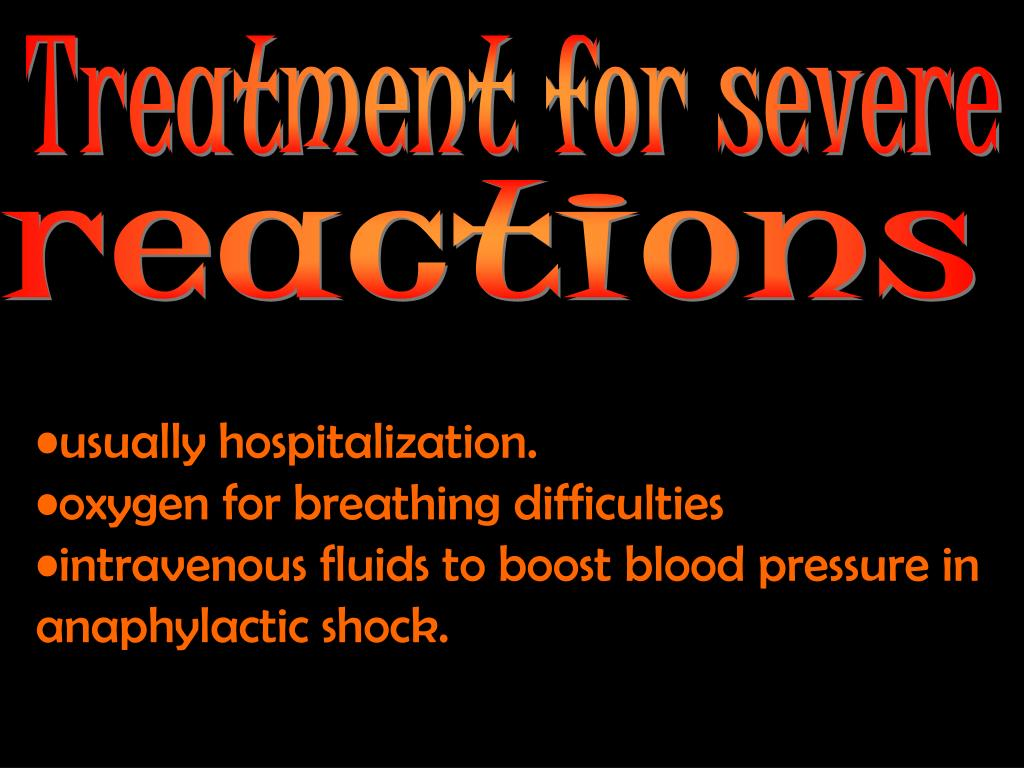 Treatment for severe