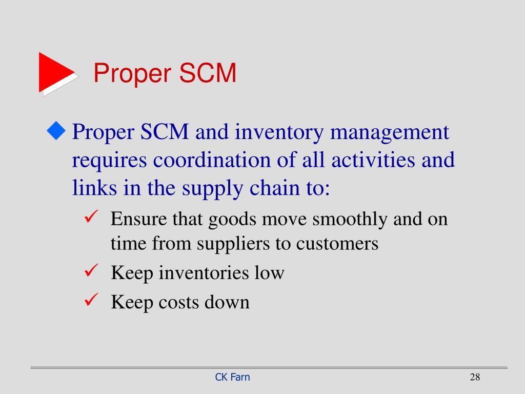 Proper SCM