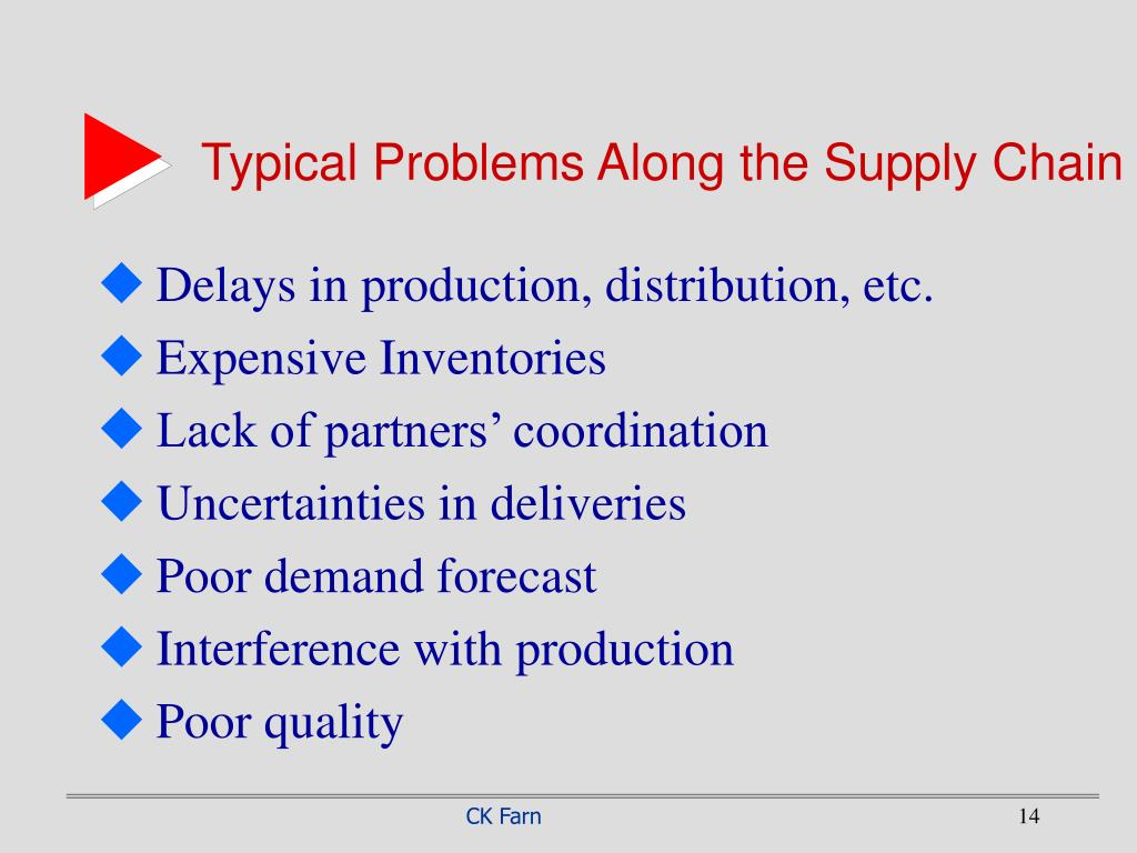 Typical Problems Along the Supply Chain