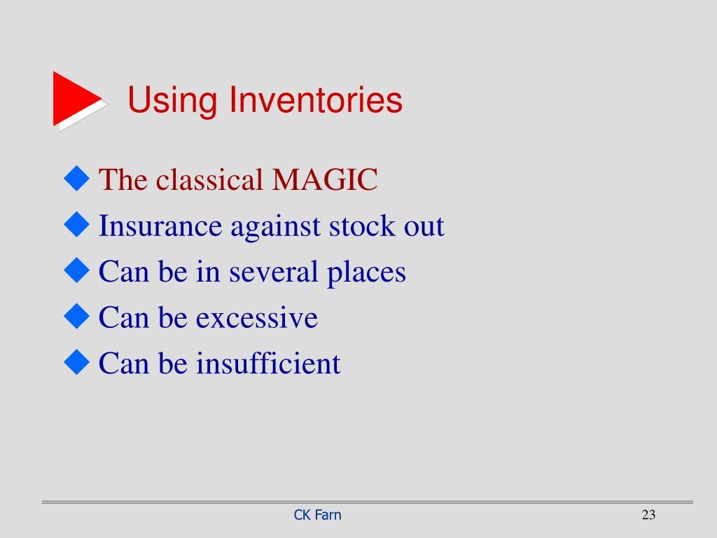 Using Inventories