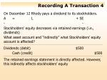 recording a transaction 4