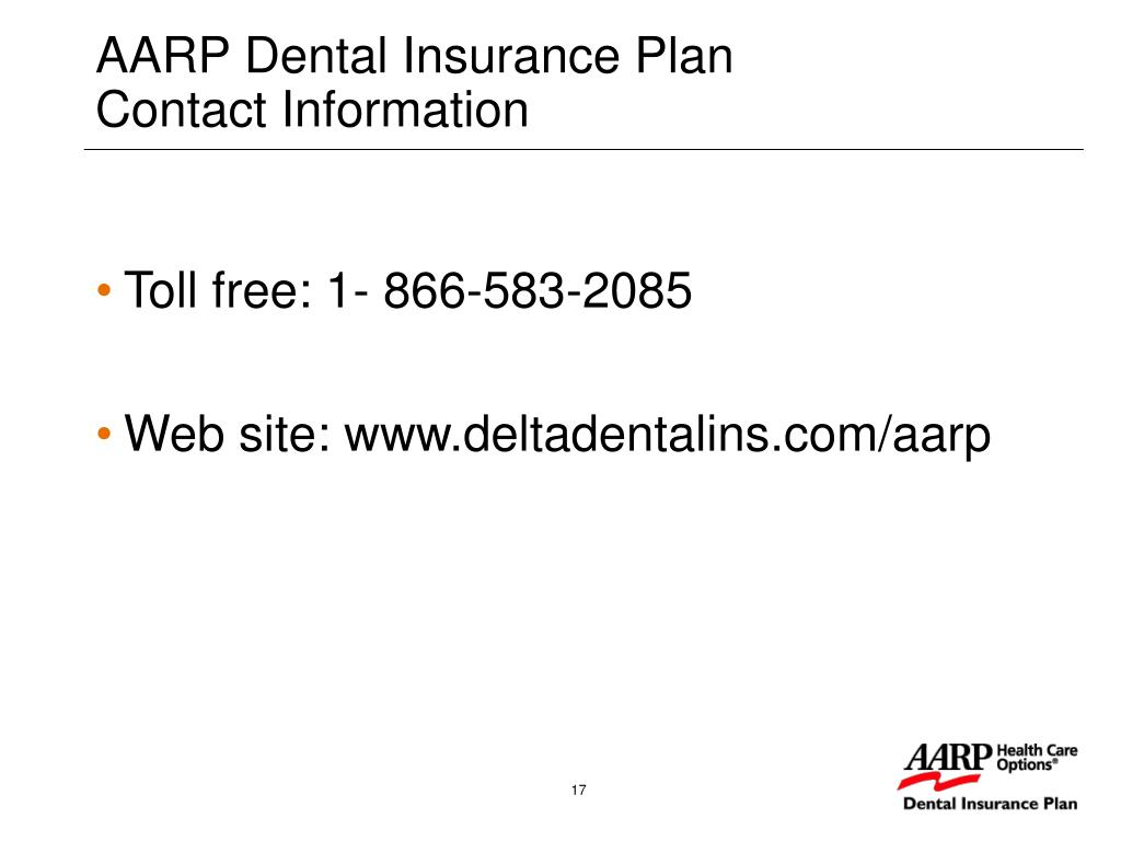 AARP Dental Insurance Plan