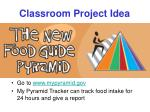 classroom project idea