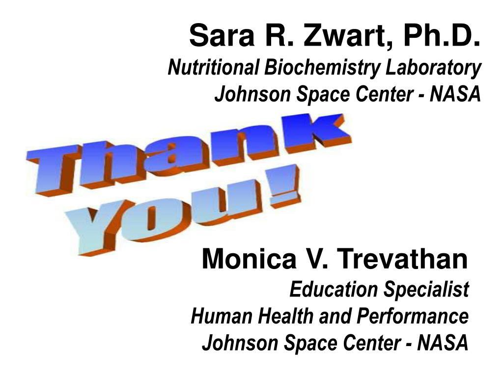 Sara R. Zwart, Ph.D.