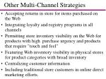 other multi channel strategies