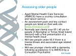 assessing older people
