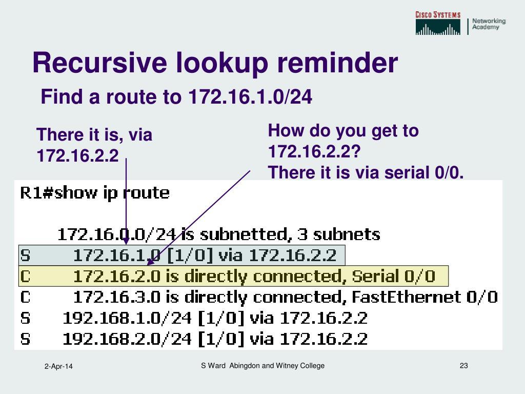 How do you get to 172.16.2.2?
