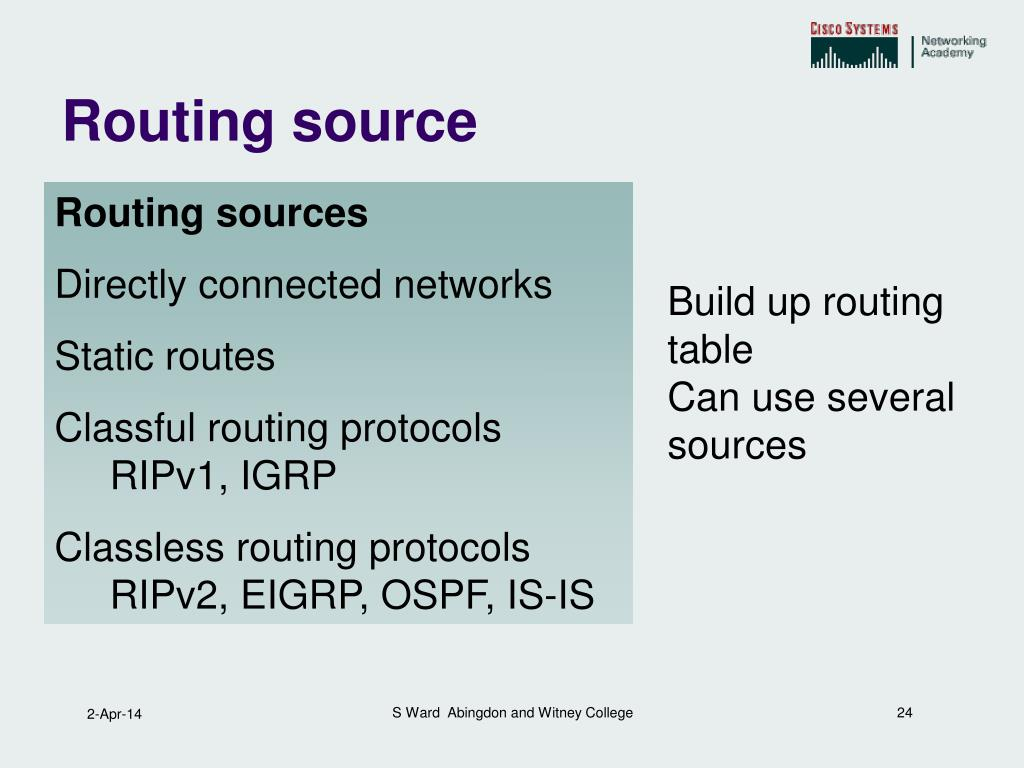 Routing source