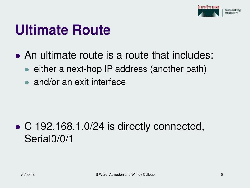 Ultimate Route