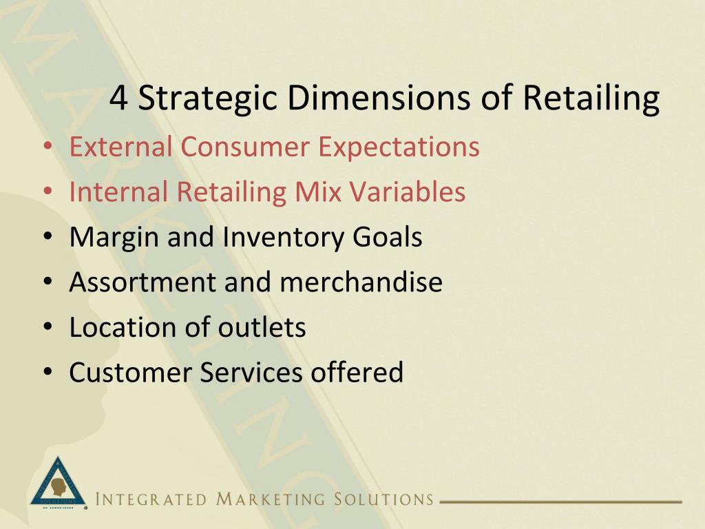 4 Strategic Dimensions of Retailing
