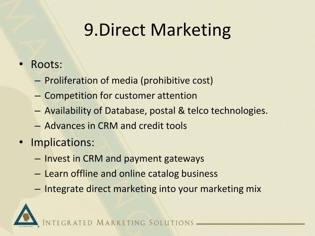 9.Direct Marketing
