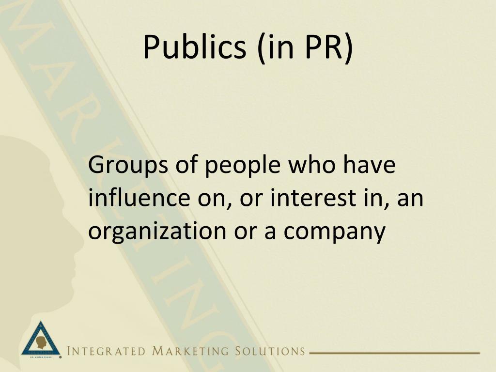 Publics (in PR)