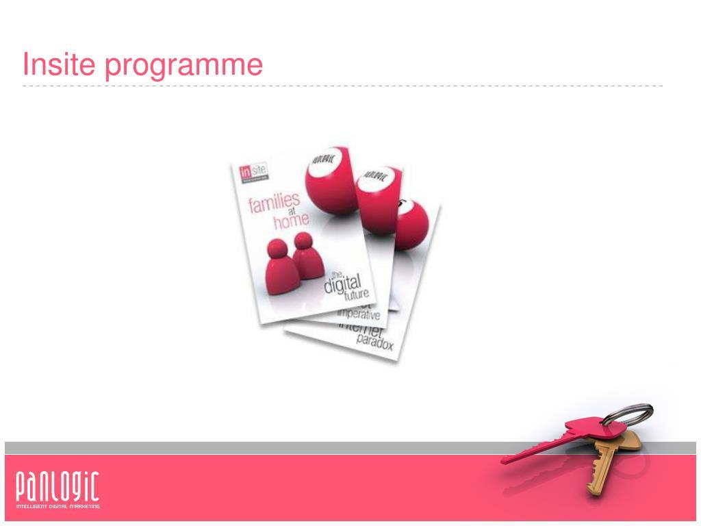 Insite programme