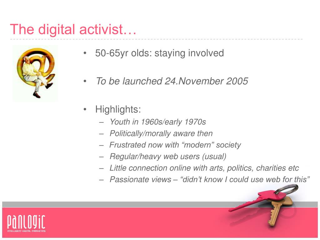 The digital activist…