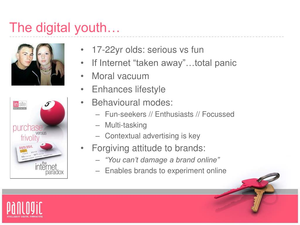 The digital youth…
