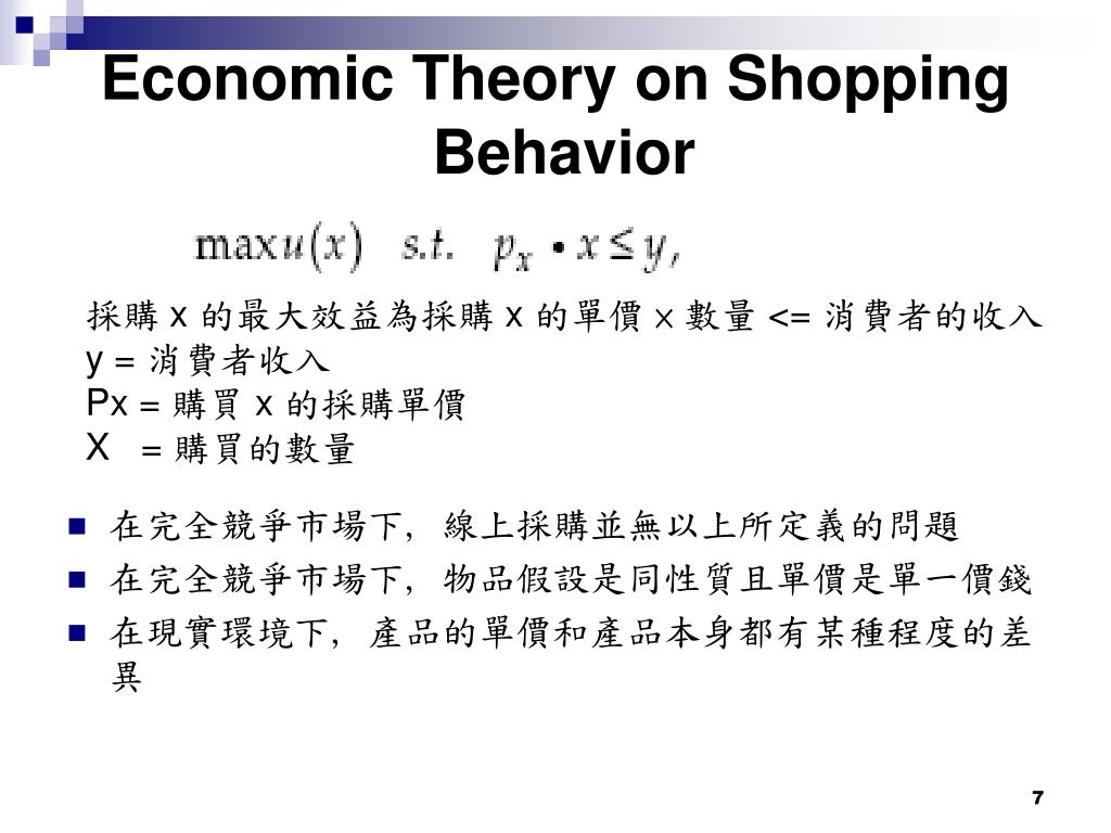 Economic Theory on Shopping