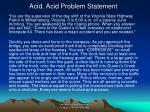 acid acid problem statement