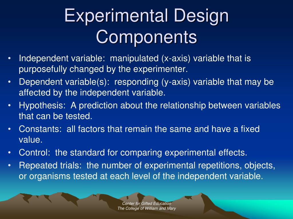 Experimental Design Components