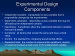 experimental design components