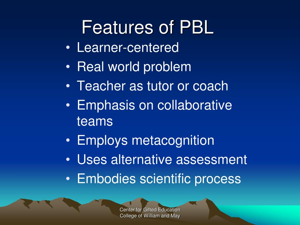 Features of PBL