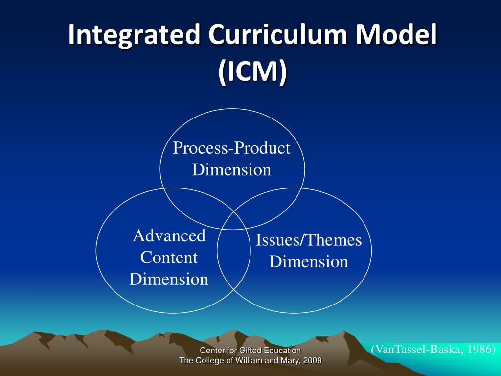 Integrated Curriculum Model (ICM)